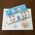 Letter Set Blue Roof Home